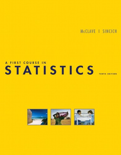 First Course in Statistics  10th 2009 edition cover