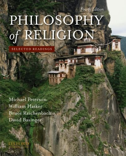 Philosophy of Religion Selected Readings 4th 2010 edition cover