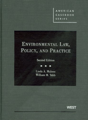 Environmental Law, Policy, and Practice  2nd 2011 (Revised) edition cover