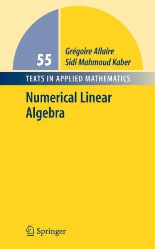 Numerical Linear Algebra   2008 edition cover
