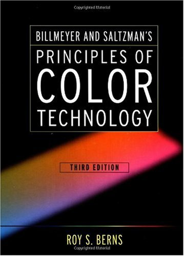 Principles of Color Technology  3rd 2000 (Revised) edition cover