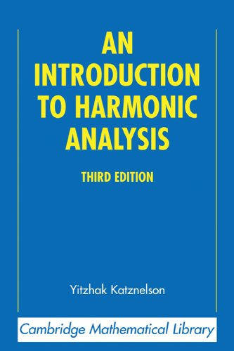 Introduction to Harmonic Analysis  3rd 2004 (Revised) edition cover