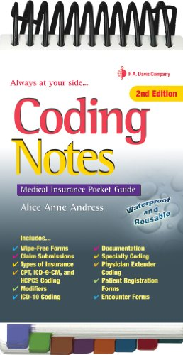 Coding Notes Medical Insurance Pocket Guide 2nd 2010 (Revised) edition cover