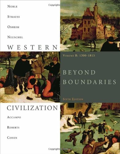 Western Civilization Beyond Boundaries, 1300-1815 6th 2011 edition cover