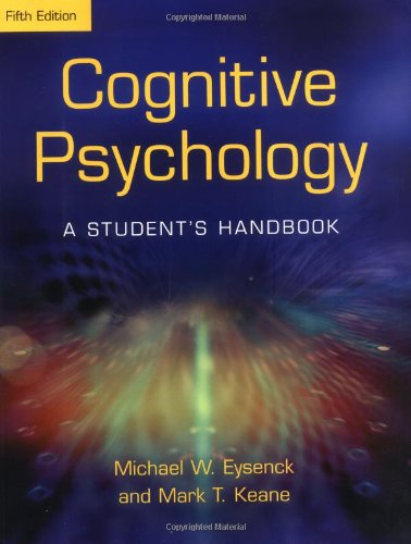 Cognitive Psychology A Student's Handbook 5th 2004 (Revised) edition cover