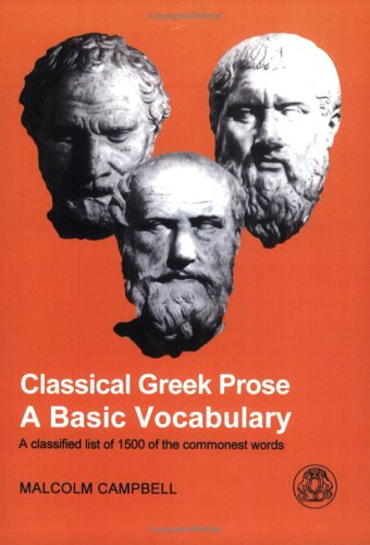 Classical Greek Prose A Basic Vocabulary  1998 edition cover