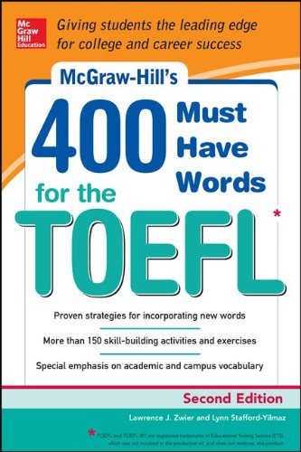 400 Must-Have Words for the TOEFL Test  2nd 2014 edition cover