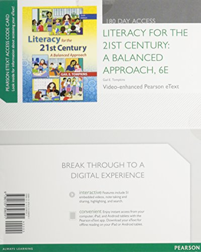 Literacy for the 21st Century A Balanced Approach 6th 2014 9780133396591 Front Cover