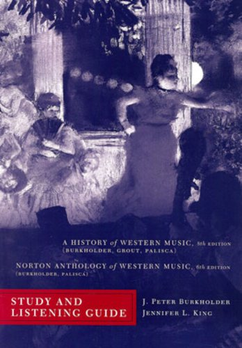 History of Western Music  8th 2010 (Student Manual, Study Guide, etc.) edition cover