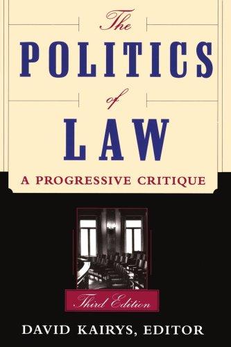 Politics of Law A Progressive Critique 3rd 1998 (Revised) edition cover