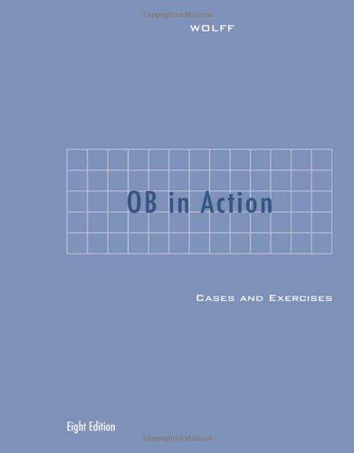 Organized Behavior  8th 2007 9780618611591 Front Cover