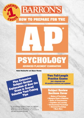 How to Prepare for the Advanced Placement Exam, AP : Psychology  2000 9780764109591 Front Cover