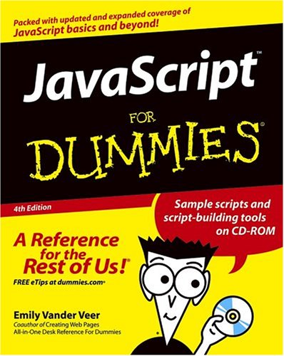 JavaScript for Dummies  4th 2005 (Revised) edition cover