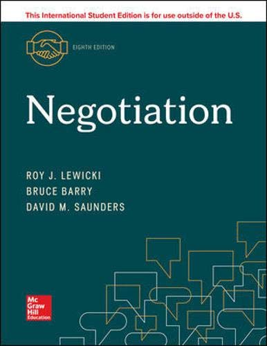 Negotiation  8th 2020 9781260565591 Front Cover