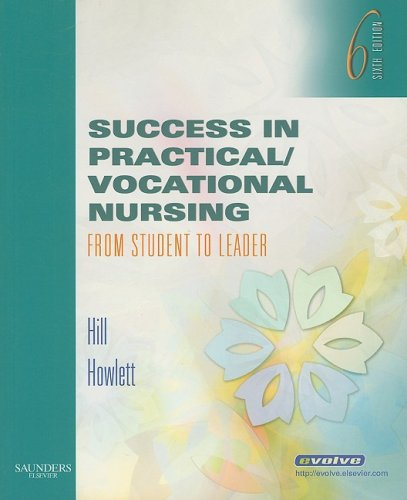 Success in Practical/Vocational Nursing From Student to Leader 6th 2009 edition cover