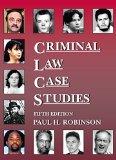 Criminal Law Case Studies:   2015 edition cover