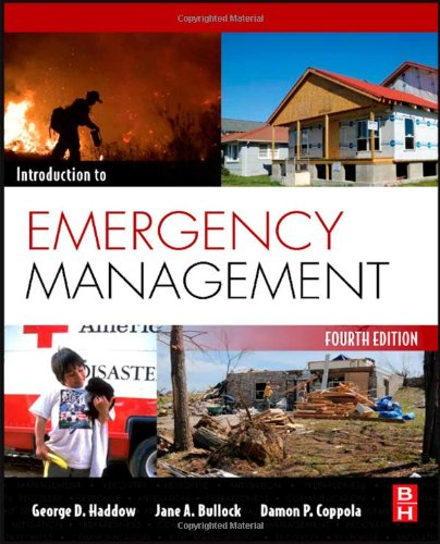 Introduction to Emergency Management  4th 2010 9781856179591 Front Cover