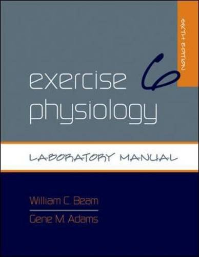 Exercise Physiology Laboratory Manual  6th 2011 edition cover