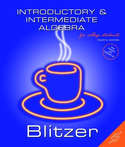 Introductory and Intermediate Algebra for College Students  2nd 2006 (Revised) edition cover