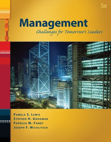 Management Challenges for Tomorrow's Leaders 5th 2007 edition cover
