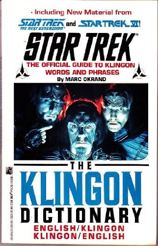 Klingon Dictionary   1992 edition cover