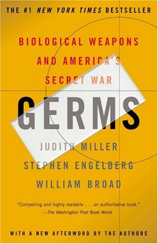 Germs Biological Weapons and America's Secret War  2002 (Reprint) edition cover