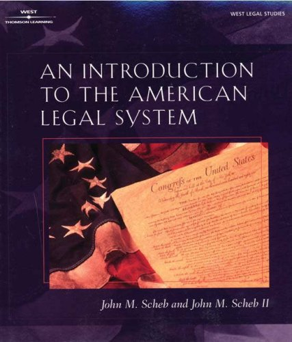 Introduction to the American Legal System   2002 edition cover