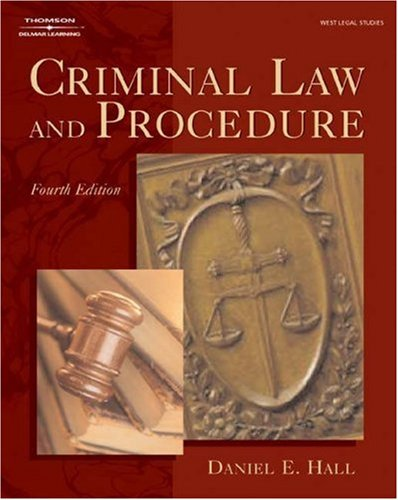 Criminal Law and Procedure  4th 2004 (Revised) 9781401815592 Front Cover