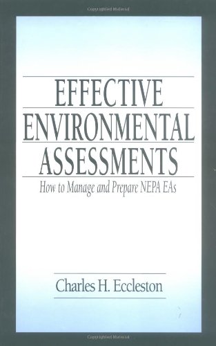 Effective Environmental Assessments How to Manage and Prepare Nepa Eas  2001 edition cover