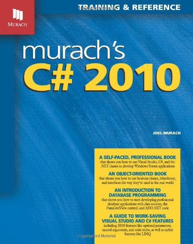 Murach's C# 2010  4th 2010 edition cover