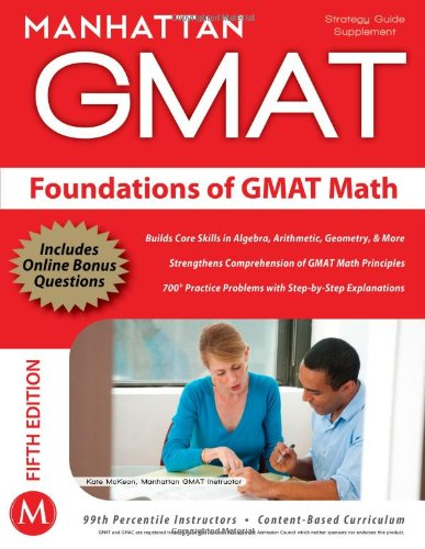 Foundations of GMAT Math  5th (Revised) 9781935707592 Front Cover