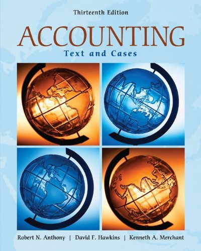 Accounting Text and Cases 13th 2011 edition cover
