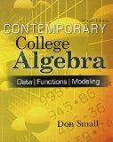 CONTEMPORARY COLLEGE ALG.-W/CD N/A edition cover