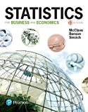 Statistics for Business and Economics  13th 2018 9780134506593 Front Cover