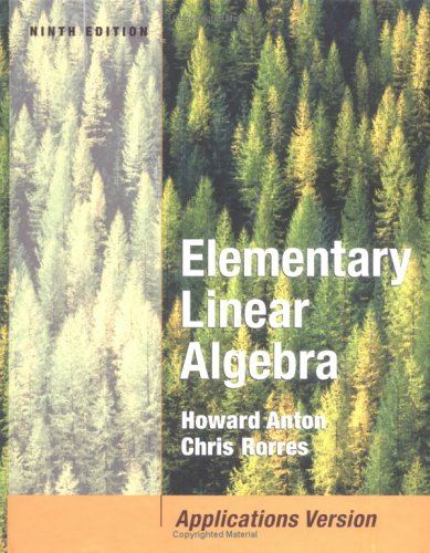Elementary Linear Algebra with Applications  9th 2005 (Revised) edition cover