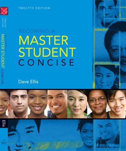 Becoming a Master Student  12th 2009 9780547126593 Front Cover