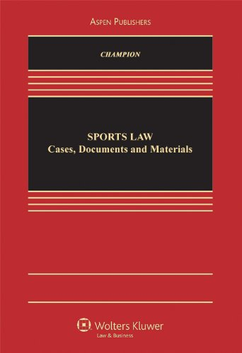 Sports Law Cases, Documents and Materials  2005 9780735536593 Front Cover