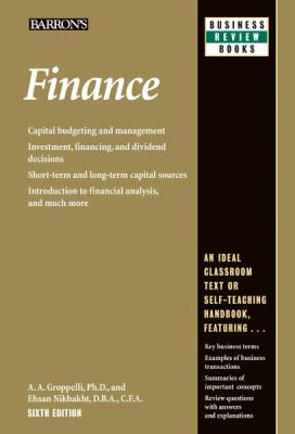 Finance  6th 2012 (Revised) edition cover