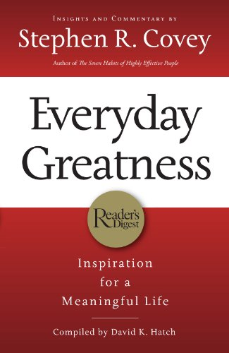 Everyday Greatness Inspiration for a Meaningful Life  2009 edition cover