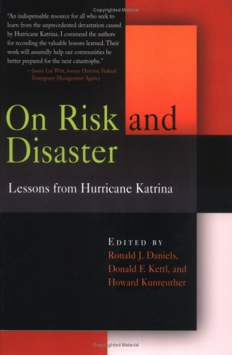 On Risk and Disaster Lessons from Hurricane Katrina  2006 edition cover