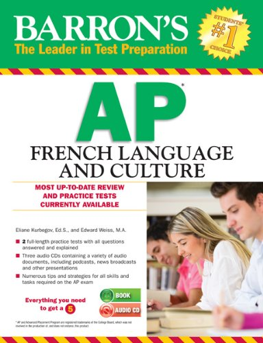 Barron's AP French Language and Culture with Audio CDs   2013 edition cover