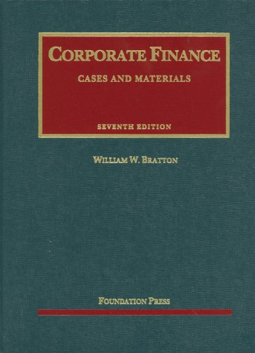 Bratton's Corporate Finance, 7th  7th 2012 (Revised) edition cover