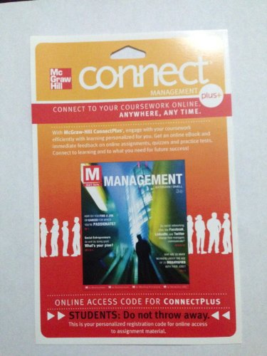 M:MANAGEMENT-CONNECT PLUS ACCE N/A 9780077530594 Front Cover