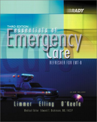 Essentials of Emergency Care Refresher for EMT-B 3rd 2002 9780130945594 Front Cover