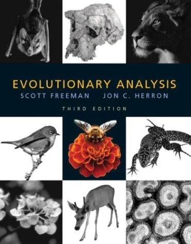 Evolutionary Analysis  3rd 2004 edition cover
