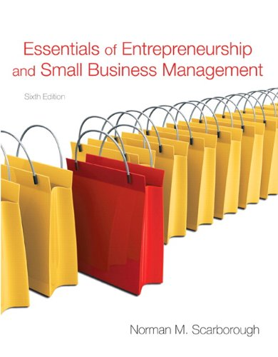Essentials of Entrepreneurship and Small Business Management  6th 2011 edition cover