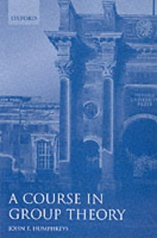 Course in Group Theory   1996 edition cover