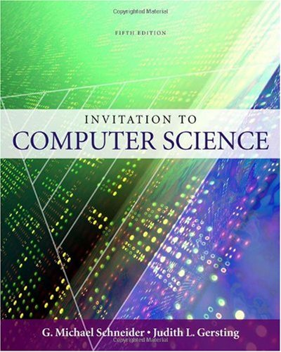 Invitation to Computer Science  5th 2010 edition cover