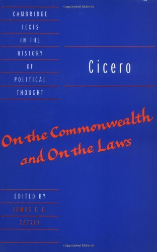 Cicero On the Commonwealth and on the Laws  1999 edition cover
