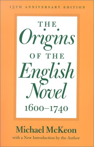 Origins of the English Novel, 1600-1740  15th 2002 (Anniversary) edition cover